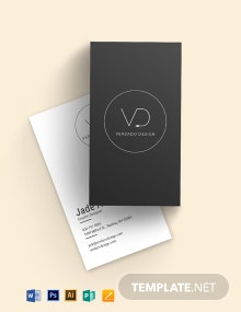 Modern Vertical Business Card Template