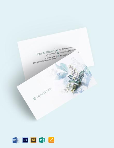 Monstera Art Business Card Template