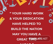 Free Labor Day Quote Template