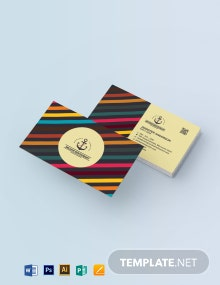 Retro Vintage Style Business Card Template