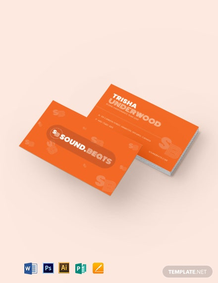 Scatter Business Card Template