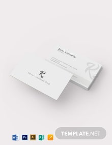 Semi Transparent Business Card Template