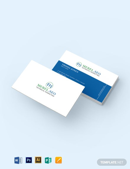 SEO Company Business Card Template