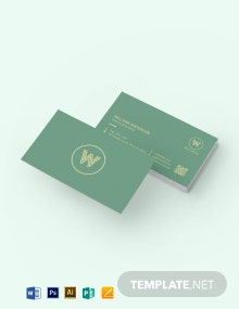 Simple Textured Business Card Template