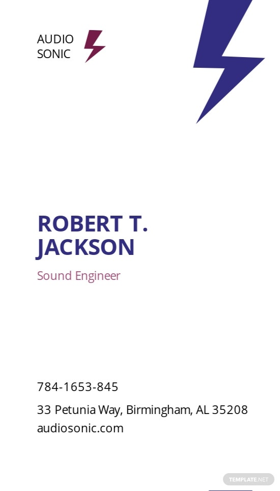 Sound Engineer Business Card Template 1.jpe