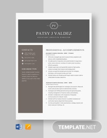 Assistant Creative Director Resume Template
