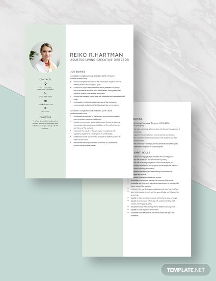 Assisted Living Executive Director Resume Download