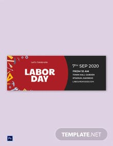 Free Labor Day Tumblr Banner Template