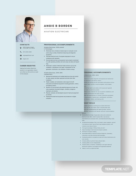 Aviation Electrician Resume Download