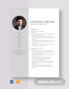 Aviation Inspector Resume Template
