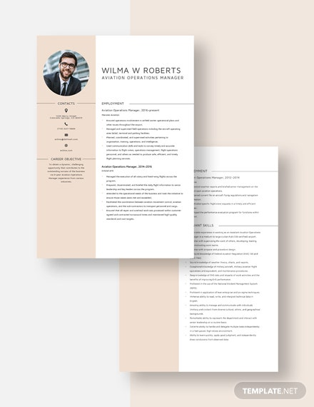 Aviation Operations Manager Resume Download