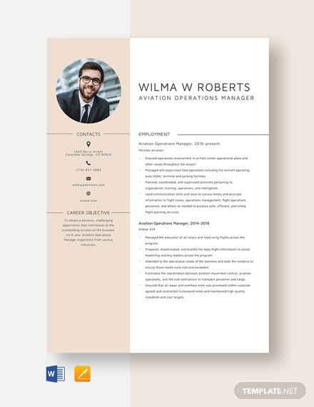 Aviation Operations Manager Resume