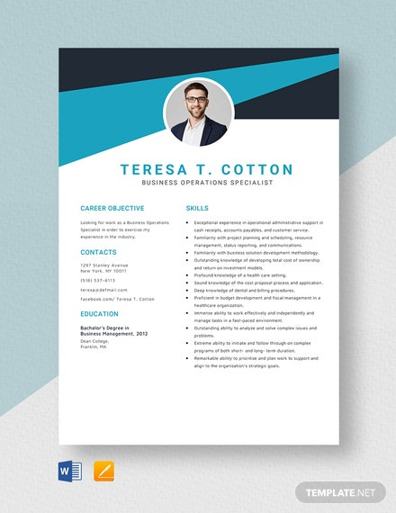 Business Operations Specialist Resume