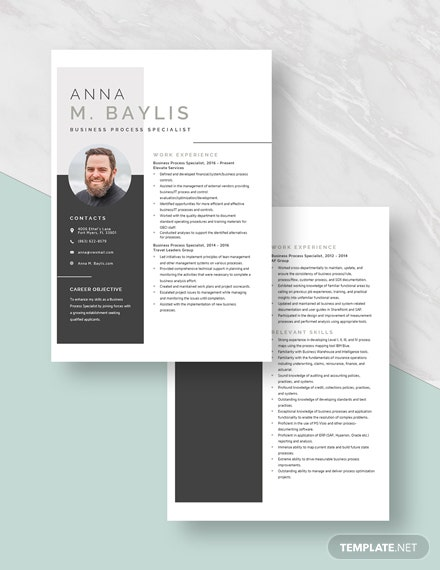 Business Process Specialist Resume Download
