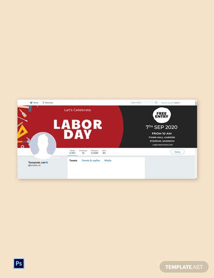 Free Labor Day Tumblr Profile Photo Template