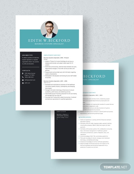Business Systems Specialist Resume Download