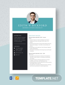 Business Systems Specialist Resume Template