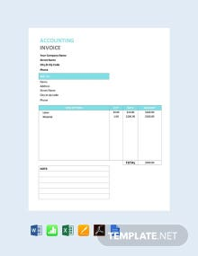 Free Accounting Service Invoice Template