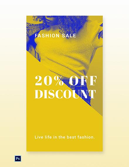 Free Creative Fashion Sale Whatsapp Image Template