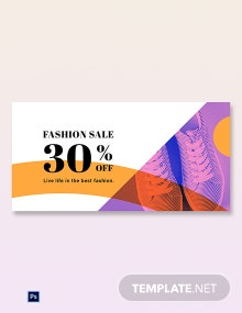 Free Elegant Fashion Sale Blog Image Template