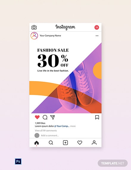 Free Elegant Fashion Sale Instagram post Template