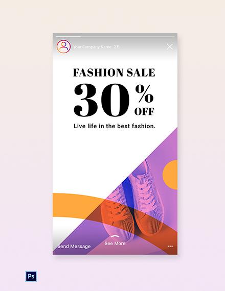 Free Elegant Fashion Sale Instagram Story Template