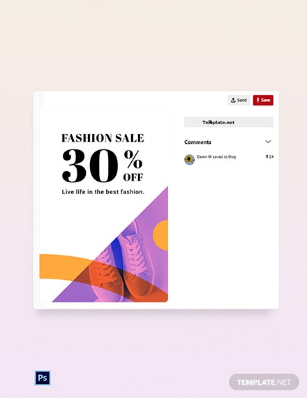Free Elegant Fashion Sale Pinterest Pin Template