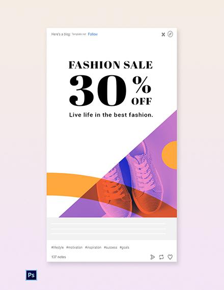 Free Elegant Fashion Sale Tumblr Post Template
