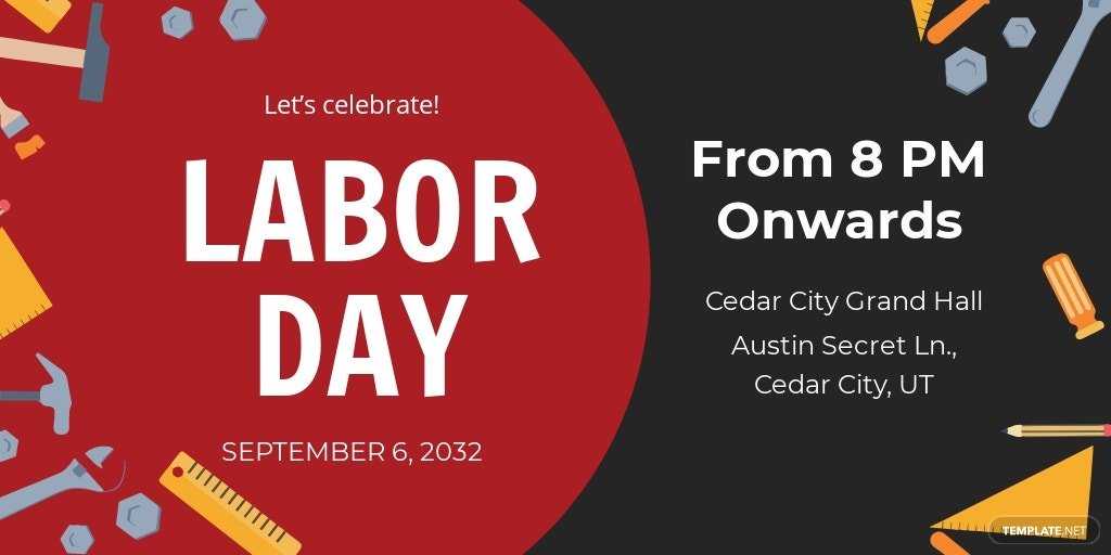 Free Labor Day Twitter Post Template.jpe