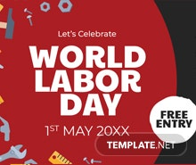Free Labor Day Twitter Post Template