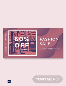 Free Fashion Sale Offers Blog Image Template