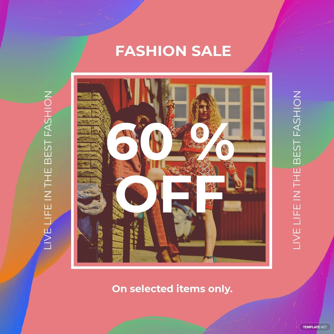 Free Fashion Sale Offers Instagram post Template