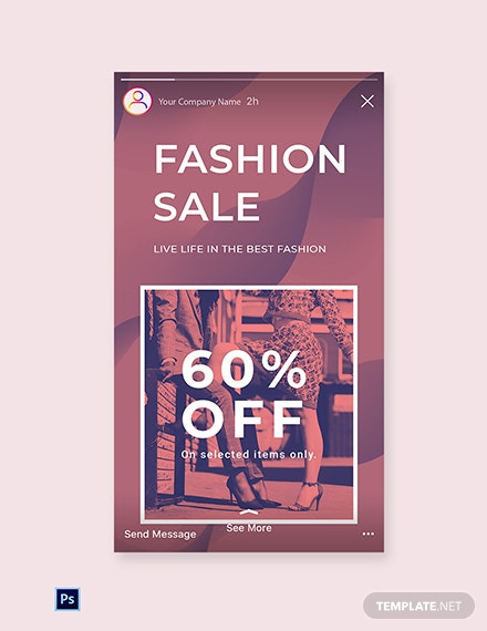 Free Fashion Sale Offers Instagram Story Template