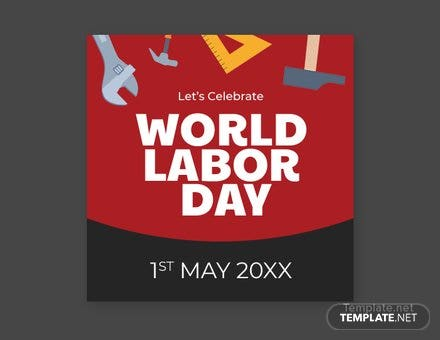 Free Labor Day Twitter Profile Photo Template