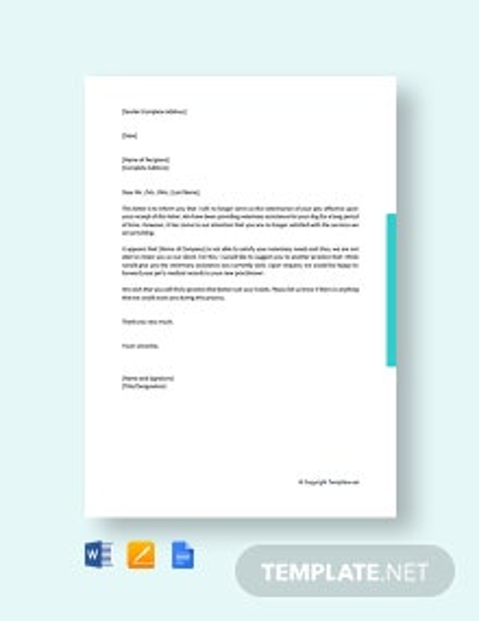 Free Client Termination Letter