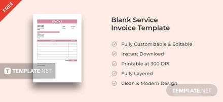Free Blank Service Invoice Template