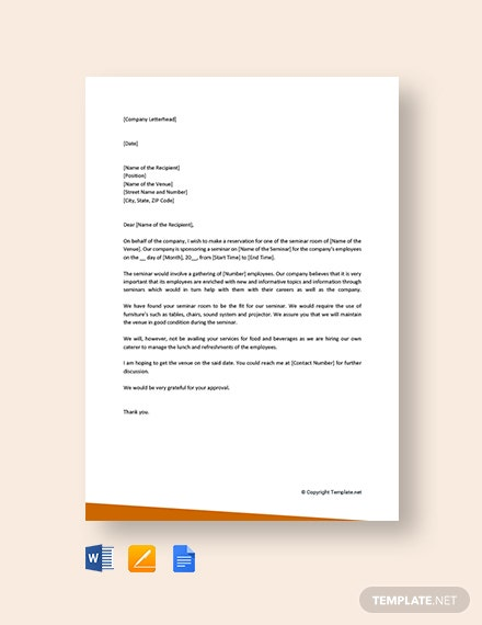 Free Reservation Letter