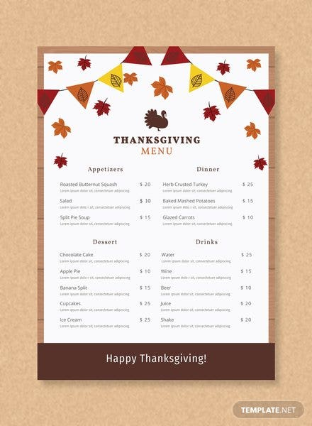 Free Tea Party Menu Template in Adobe Photoshop, Illustrator ...