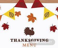 Free Thanksgiving Menu Template