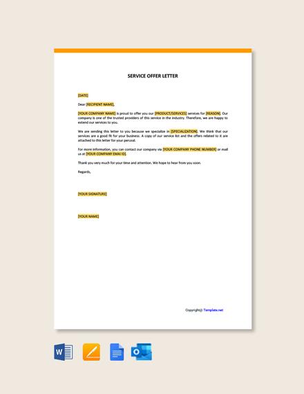 Free Service Offer Letter