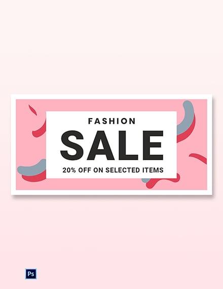 Free Modern Fashion Sale Blog Post Template