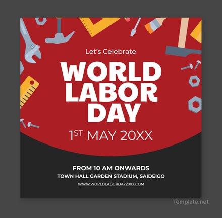 Free Labor Day YouTube Profile Photo Template