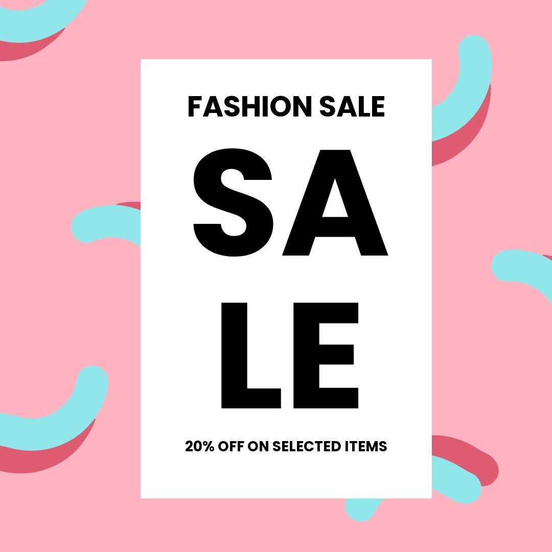 Free Modern Fashion Sale Instagram Post Template