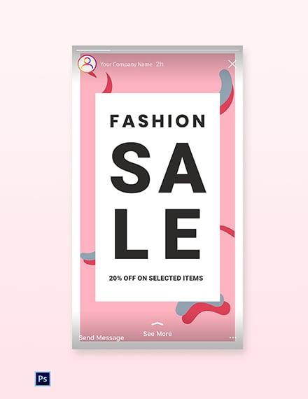Free Modern Fashion Sale Instagram Story Template