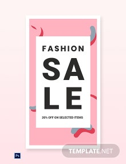 Modern Fashion Sale Whatsapp Image Template