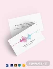 Music Producer and DJ Business card Template