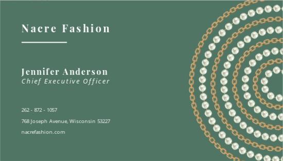 Nacre Fashion Business Card Template 1.jpe