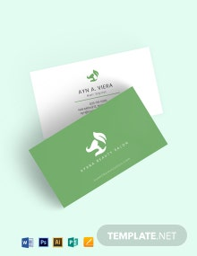Natural Beauty Salon Business Card Template