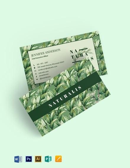 Naturalis Business Card Template