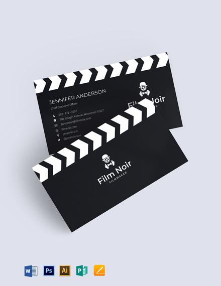 Noir Business Card Template